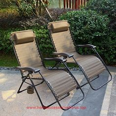 cloud mountain set of 2 outdoor adjustable infinity zero gravity lounge chair patio pool recliner with - Zero Gravity Lounge Chair