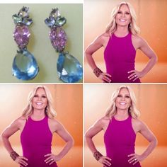 Real Housewives of Orange County is wearing Mona Shroff Jewellery earrings for the opening credits