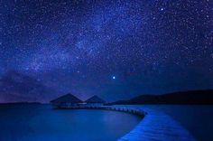 Así se vería el cielo sin contaminación.