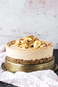 Vegan Banoffee Cheesecake #healthy #dessert #recipe #vegan #banoffee #cheesecake