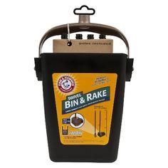 Arm & Hammer Dog Waste Shovel Rake & Bin Poop Scoop Set