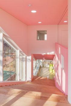 Flower Kindergarten by OA Lab features curvy classrooms and colourful corridors