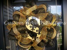 Deco Mesh New Orleans Saints Wreath by lilmaddydesigns on Etsy, $75.00