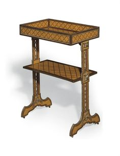 A Louis XVI Ormolu-Mounted Amaranth, Bois Citronnier And Parquetry Tricoteuse  Attributed To Roger Vandercruse, Circa 1775