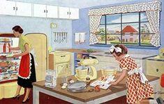 Decor Image detail for -More on retro kitchens - Vintage Ads, Vintage Images, Vintage Decor, 1950s Decor, Pin Up, Vintage Housewife, Vintage Appliances, Kitchen Images, Vintage Interiors