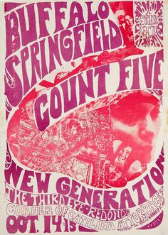 """From the Famous Rock Posters site:""""Concert poster art is usually defined by the bold and graphical psychedelic rock posters from the the h. Rock Posters, Band Posters, Movie Posters, Vintage Concert Posters, Vintage Posters, Norman Rockwell, Psychedelic Rock, Psychedelic Posters, Hippie Posters"""