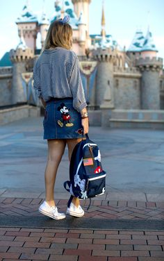 26dea2f50619 Love this Mickey Marc Jacobs skirt! Walt Disney World    Disney Style     Disney Tee    Disney Outfit    Wear to Disney