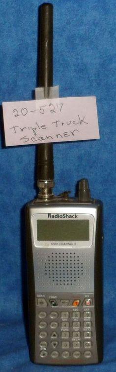 Radio Shack 1000 Channel Triple Trunk Pro-97 Police, CB, Radio no damage TA4 #RadioShack