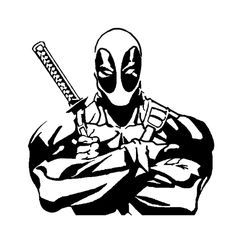 Deadpool Die Cut Vinyl Decal for Windows, Vehicle Windows, Vehicle Body Surfaces or just about any surface that is smooth and clean Marvel Noir, Stencil Art, Stencils, Stencil Templates, Scroll Saw Patterns, Vinyl Projects, Pyrography, Vinyl Decals, Car Decals
