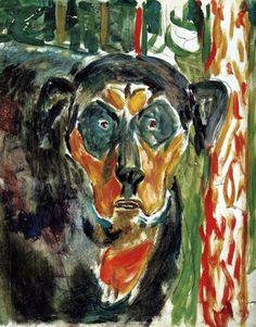 Munch, Edvard (1863-1944) - 1930s Head of a Dog (Munch Museum, Oslo, Norway) by RasMarley, via Flickr