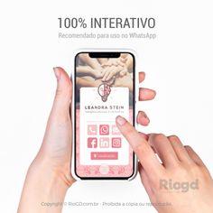 CARTÃO DIGITAL 100% INTERATIVO Aumente significativamente sua rede de clientes, pacientes e networking. Com nosso Cartão Digital Interativo, você poderá compartilhar seus contatos facilmente de forma rápida e prática através do WhatsApp. Não perca tempo! Faça agora seu pedido e aumente sua rede de contatos. Pedidos: 51 98623.7313