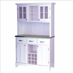 Home Styles Steel Top Buffet and 2-Door Hutch in White $559.98