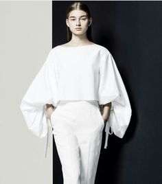 White blouse from Delpozo SS 2016 @sommerswim