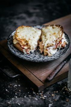 A step-by-step guide on how to make THE ultimate Croque Monsieur. Shaved ham, tangy béchamel and enough gruyere to sink a ship! Anisa Sabet | The Macadames | Food Styling | Food Photography | Props | Moody | Food Blogger | Recipes