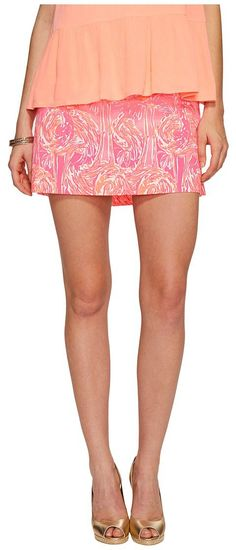Lilly Pulitzer Nicki Skort (Tiki Pink Tappin It Back Small) Women's Skort - Lilly Pulitzer, Nicki Skort, 24756-660RW9-660, Apparel Bottom Skort, Skort, Bottom, Apparel, Clothes Clothing, Gift, - Street Fashion And Style Ideas