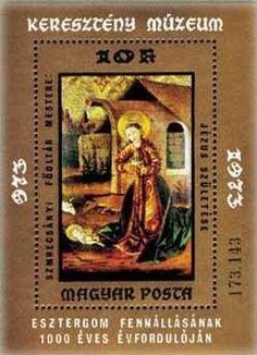 Briefmarke: Birth of Jesus (Ungarn) (Paintings from Christian Museum, Esztergom) Mi:HU BL102A,Sn:HU 2257,Yt:HU BF108
