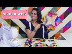 Bloco usando retalhos   Spider web - YouTube
