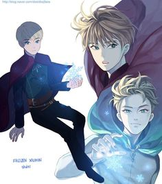 "Genderbent version of Elsa from ""Frozen"" - Art by ghdtl (I want this to be a thing. Some creative mind make this an actual thing.)"