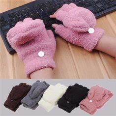 Women Winter Hand Wrist Warmer Winter Fingerless Gloves - Gchoic.com