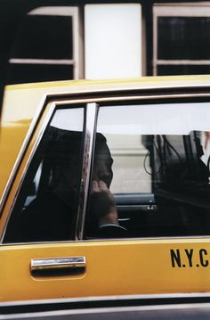NYC taxi | Ralph Gibson . New York Photography . Yellow . Cab .