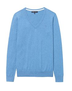 Women's Foxy V-Neck Jumper in Sky Blue Marl from Crew Clothing