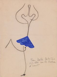 Costume design by Joan Miró