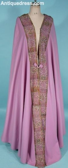 c. 1905-1916 Liberty & Co, London and Paris Lavender Wool Burnoose with Embroidery