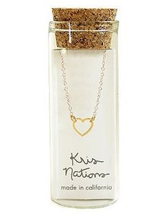 Gold Charm Necklace kris nations jewelry