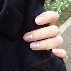 Updated and modern minimal manicure. Nails that have that french chic.