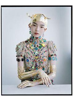 """Magical Thinking"" | Model: Xiao Wen Ju, Photographer: Tim Walker, W Magazine, March 2012"