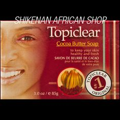 Topiclear Cocoa Butter Soap (85g / 3oz.) - African Beauty
