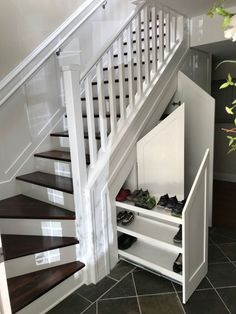 Shoe storage under stairs, under basement stairs, stairway storage, Shoe Storage Under Stairs, Under Basement Stairs, Under Stairs Storage Solutions, Stairway Storage, Under Stairs Cupboard, Understairs Shoe Storage, Closet Under Stairs, Understairs Ideas, Under Staircase Ideas