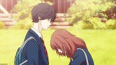 anime butts drive me nuts (Posts tagged ao haru ride) Anime Gifs, Manga Anime, Cute Anime Pics, Anime Love, Ao Haru Ride Kou, Futaba Y Kou, Tanaka Kou, Blue Springs Ride, Anime Couples Drawings