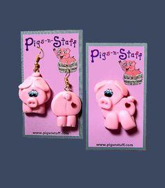Pig Earrings from Pigsnstuff.com