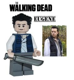 The Walking Dead EUGENE minifigure action figure made with Lego zombie