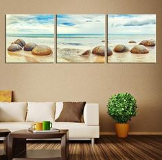 Large Canvas Print – Stones on the Beach Large Size, Extra Large Wall Art Canvas… - DIY Wall Art Large Canvas Prints, Large Canvas Wall Art, Metal Tree Wall Art, Extra Large Wall Art, Diy Wall Art, Framed Wall Art, Wall Decor, Canvas Art, Beach Wall Art