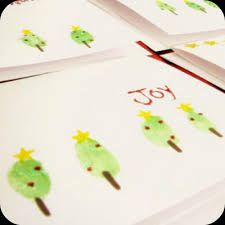 Christmas tree thumb prints