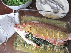 AIP / Provençal Herb Stuffed Whole Fish - French Paleo Recipe - A Squirrel in the Kitchen Seafood Recipes, Paleo Recipes, Great Recipes, Gratin Dish, Autoimmune Paleo, Anti Inflammatory Diet, Fish And Seafood, Nutrition, Cooking
