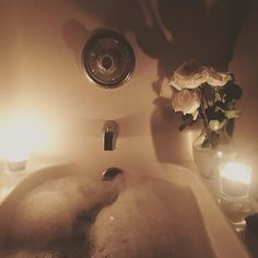 Attempt to make everything beautiful.... even an afternoon bath on a Sunday