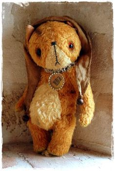 Vintage Style Mohair  Red Foxy by My Primitive Sistas