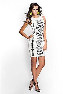 Aztec Caviar-Beaded Dress #guess #treatyourself #shopkick