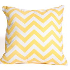 Yellow Chevron Cushion Cover www.cushandco.com.au