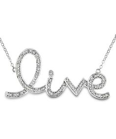 Take a look at this Diamond & Silver 'Live' Pendant Necklace by Delmar on #zulily today!