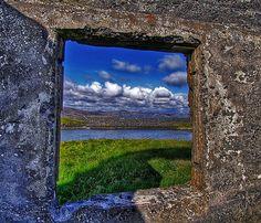 Through the window ...