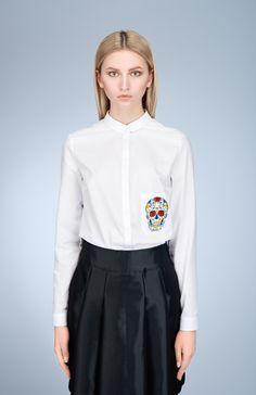 My Carmele Skull Blouse — Bora Bohème Ethical Fashion, Womens Fashion, Fashion Inspiration, Bell Sleeve Top, Skull, Passion, Group, Blouse, Board