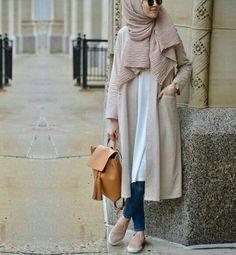 SoSab - Modest Fashion: Style advice and modest fashion - hijab fashion Islamic Fashion, Muslim Fashion, Modest Fashion, Fashion Outfits, Hijab Style, Hijab Chic, Modest Wear, Modest Outfits, Classy Outfits