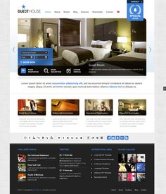 Buy Guesthouse - Hotel & Sport Center WordPress Theme by ait on ThemeForest. Have a look also at our brand new WordPress theme with fully working reservation system called Anchor: Guesthouse Ver. Hotel Website Design, Website Designs, Guesthouse Hotel, Golf Room, Professional Web Design, Interface Design, User Interface, Premium Wordpress Themes, Web Design Inspiration