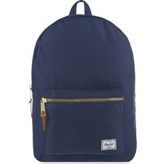 HERSCHEL SUPPLY CO Settlement backpack ($80) ❤ liked on Polyvore featuring bags, backpacks, navy, laptop pocket backpack, navy blue backpack, navy bag, laptop bag and zipper bag