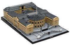 Stortinget (Norwegian Parliament) in microscale LEGO