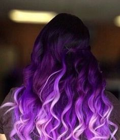 Purple Balayage Hair Looks